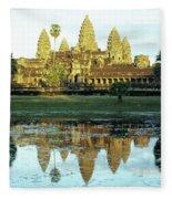 Angkor Wat Reflections 01 Fleece Blanket
