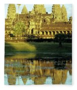 Angkor Wat Reflections 02 Fleece Blanket