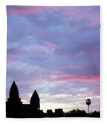 Angkor Wat Sunrise 02 Fleece Blanket