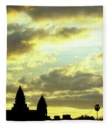Angkor Wat Sunrise 03 Fleece Blanket