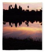 Angkor Wat Sunrise Cambodia Fleece Blanket