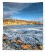 Anglesey Seascape Fleece Blanket
