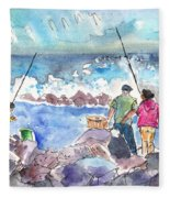 Angling In Gran Canaria Fleece Blanket