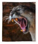 Angry Cougar Fleece Blanket