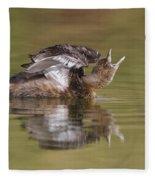 Angry Grebe Fleece Blanket
