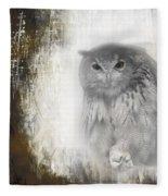 Angry Owl's Talons Fleece Blanket