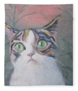 Anguish Of A Cat Fleece Blanket