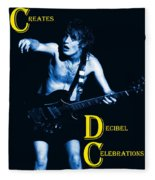 Angus Creates Decibel Celebrations In Blue Fleece Blanket