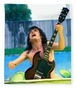 Angus Young Of A C D C At Day On The Green Monsters Of Rock  7-21-79  Fleece Blanket
