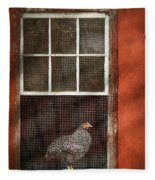 Animal - Bird - Chicken In A Window Fleece Blanket