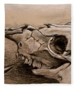 Animal Bones Fleece Blanket