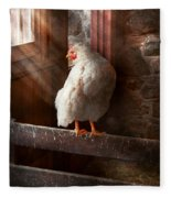Animal - Chicken - Lost In Thought Fleece Blanket