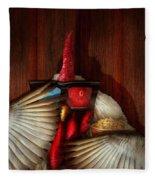 Animal - Chicken - Movie Night  Fleece Blanket