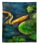 Animal - Fish - The Shy Fish  Fleece Blanket