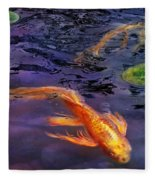 Animal - Fish - There's Something About Koi  Fleece Blanket