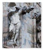 Animal Gargoyles Duomo Di Milano Italia Fleece Blanket