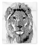Animal Prints - Proud Lion - By Sharon Cummings Fleece Blanket