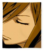 Anime Girl Brown Fleece Blanket