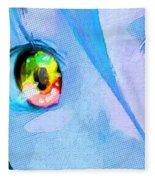 Anime Girl Eyes Blue Fleece Blanket