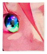 Anime Girl Eyes Red Fleece Blanket