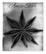 Anise Star Single Text Distressed Black And Wite Fleece Blanket