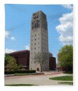 Ann Arbor Michigan Clock Tower Fleece Blanket