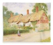 Ann Hathaway's Cottage Fleece Blanket