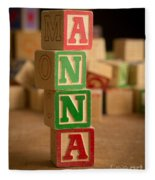 Anna - Alphabet Blocks Fleece Blanket