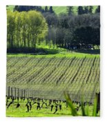 Anne Amie Vineyard Lines 23093 Fleece Blanket