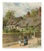 Anne Hathaway's Cottage At Shottery Fleece Blanket