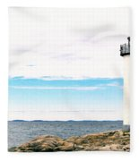 Annisquam Lighthouse Fleece Blanket