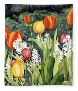 Ann's Tulips Fleece Blanket