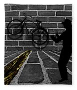 Another Bike On The Wall Fleece Blanket