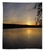 Another Day Ends Fleece Blanket