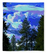 Another Fine Day On Planet Earth Fleece Blanket