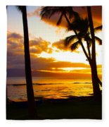 Another Maui Sunset Fleece Blanket
