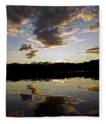 Another Sunset In The Jungle Fleece Blanket