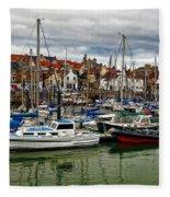 Anstruther Harbour Fleece Blanket