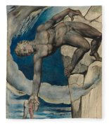 Antaeus Setting Down Dante And Virgil In The Last Circle Of Hell Fleece Blanket