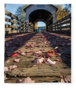 Antelope Creek Bridge Fleece Blanket