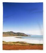 Antelope Island And Utah Vertical Fleece Blanket
