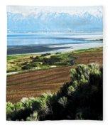 Antelope Island Wasatch Mountains Utah Fleece Blanket