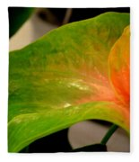 Anthurium In Red And Green Fleece Blanket