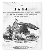 Anti-slavery Almanac, 1844 Fleece Blanket