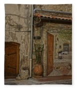 Antibes France Scene Paintings Dsc02278  Fleece Blanket