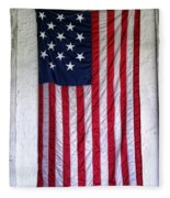 Antique American Flag Fleece Blanket
