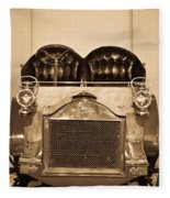 Antique Auto In Sepia Fleece Blanket