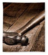 Antique Blacksmith Hammer Fleece Blanket