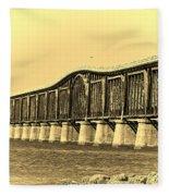 Antique Bridge Fleece Blanket