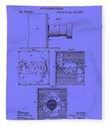 Antique Camera Patent 1883 Fleece Blanket